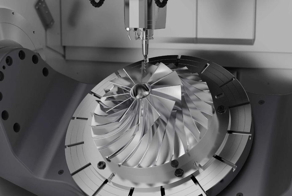 汽车涡轮增压器叶轮配套加工检测方案